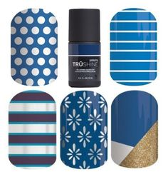 """""""Jamberry Nails - Colors - Blue"""" by kspantonjamon on Polyvore featuring beauty"""