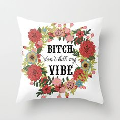 """Pull out this throw pillow when your roommate asks, """"Another episode, really?"""""""