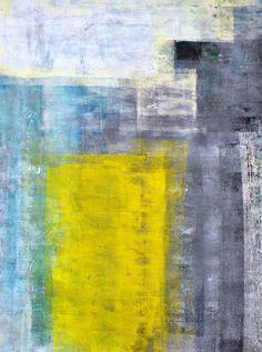 "Grey and Teal Abstract Art Print - 16"" x 20"""