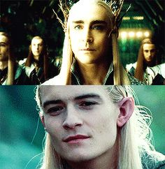 like father, like son. /// except Legolas is smiling out of fondness for the dwarf, while Thrandy is smiling out of contempt for the dwarves.