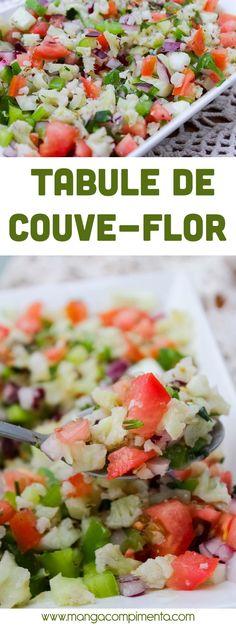 Tabule de Couve-flor | Salada gostosa para os dias quentes!