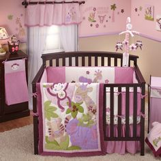 Sweet Jungle Babies Crib Bedding by NoJo