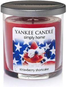 Yankee Candle simply home 7-oz. Strawberry Shortcake Jar Candle