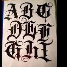 Chicano Tattoos Lettering, Tattoo Lettering Alphabet, Tattoo Lettering Design, Calligraphy Letters Alphabet, Gothic Lettering, Graffiti Lettering Fonts, Hand Lettering Fonts, Lettering Tutorial, Calligraphy Tattoo Fonts