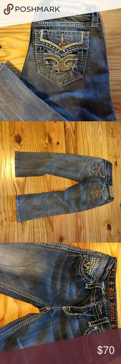 Rock Revival Rock Revival Fay Capri. Size 27. Excellent condition. Will trade for another pair of Rocks Rock Revival Jeans Ankle & Cropped