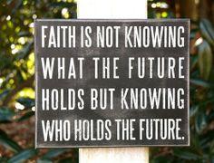 Faith Box Sign.