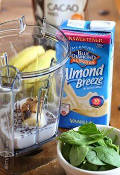 Superfood PB Banana and Cacao Green Smoothie | Skinnytaste