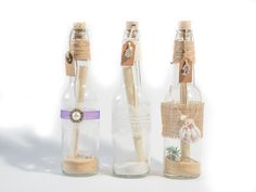 Message in a bottle style invitations - perfect for weddings and parties.