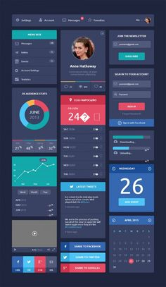 Flat Ui kit With Only Html and Css