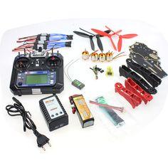 DIY RC Drone Racer Aircraft Parts: CC3D Controller Version Q330 Frame FS-i6 6CH Transmitter Motor ESC F11797-L