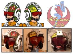 Rebel Pilot Helmet Design: Alderaan Belle by Hunter-Fett on DeviantArt