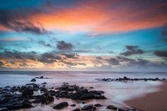 Mooie kleuren tijdens de zonsopkomt