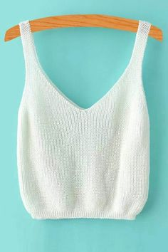 Crochet Clothes, Diy Clothes, Summer Knitting, Black Tank Tops, White Tank, Knitted Tank Top, Lace Tank, Pulls, Tuto Tricot