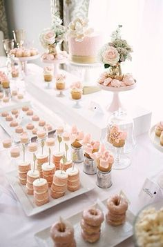 20 Bridal Brunch Ideas for a Perfect Party with the Girls - wedding cake dessert. - C A K E S - Dessert Candybar Wedding, Wedding Desserts, Wedding Cakes, Wedding Decorations, Wedding Sweet Tables, Wedding Dessert Tables, Brunch Party Decorations, Christening Decorations, Decor Wedding