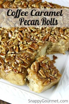 Coffee Caramel Pecan Rolls, easy breakfast cinnamon roll recipe infused with coffee. Inspired by @kitchenaidusa's #KACraftCoffee | SnappyGourmet.com #sponsored