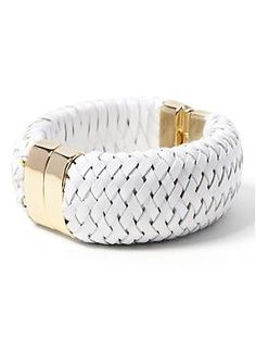 Arm candy | Woven Leather Cuff from Banana Republic