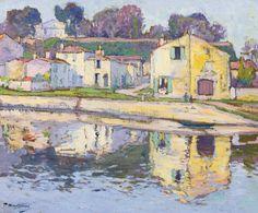 Paul Madeline (1863-1920), UN QUAI Á TAILLEBOURG, Oil on canvas, 54.6 x 65.4 cm
