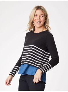 2861e6c9 Cartha Organic Cotton Grey Stripe Jumper, Thought £69.90 Stripes Design,  Grey Stripes,
