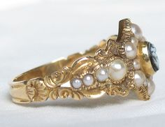 1830s Forget-me-not ring
