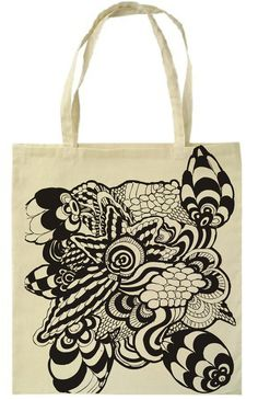 Screen Printed Canvas Bags by Petra Blahova, via Behance