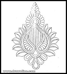 Peacock Embroidery Designs, Hand Embroidery Design Patterns, Textile Pattern Design, Cutwork Embroidery, Embroidery Works, Stencil Patterns, Embroidery Stitches, Dress Design Drawing, Hand Work Blouse Design