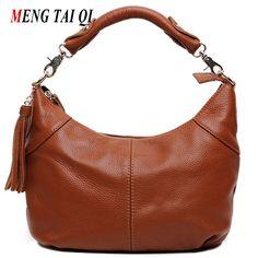 Women messenger bags luxury handbags women bags designer genuine leather shoulder bags top-handle bags vintage ladies Tassel 4
