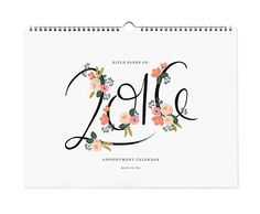 How gorgeous is this Rifle Paper Co. calendar?