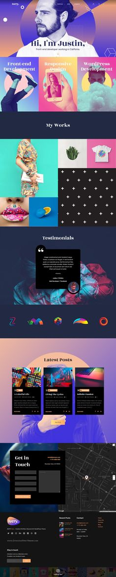 Ivery is clean and modern design 5in1 responsive #WordPress theme for creative #resume #CV and #portfolio showcase website download now..