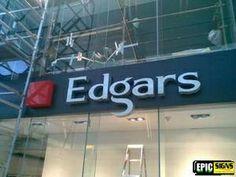 Edgars V & a Waterfront Sign Installation, V&a Waterfront, Signs, Shop Signs, Sign