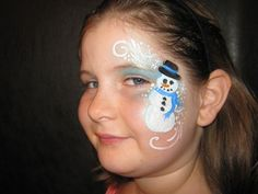 christmas face painting ideas | snowman face paint design - Christmas | Face Painting