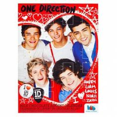 This advent calendar is perfect for all those One Direction fangirls! Get this for your teen daughter and she will stare at this calendar all day! ----------- Begin the countdown to Christmas with our amazing value chocolate filled advent calendars!