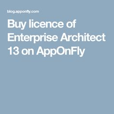 Buy licence of Enterprise Architect 13 on AppOnFly