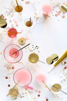 Metallic Straws (Oh Happy Day! Pink Party Drinks, Pink Parties, Party Entertainment, New Years Eve Party, Happy Day, Decoration, Pink And Gold, Party Planning, Party Time
