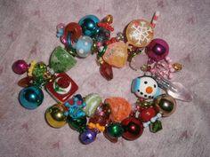 Little girls' Christmas bracelet/ Christmas by beadiebracelet