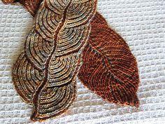 Hosta Brioche Scarf pattern by Nancy Marchant