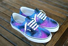 Custom Galaxy Vans Era shoes for $160 from B Street Shoes.