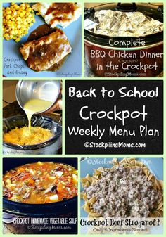 This Back to School Crockpot Weekly Menu Plan will help you spend more time with your family this week instead of in the kitchen! No need to worry about what's for dinner.