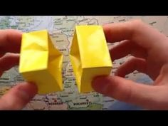 Faire une boîte en papier - Fabriquer une boîte en orgiami - Astuce Origami - Boîte en carton - YouTube