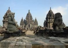The pretiest 8th century Buddhist temple, Yogyakarta, called Plaosan temple