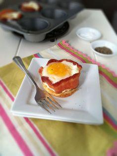 Pancake Bacon Egg Cups