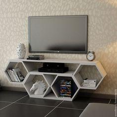 Тумба полка под телевизор (ТВ) в виде сот – купить или заказать в интернет-магазине на Ярмарке Мастеров | Так как телевизор, это место притяжения, место…