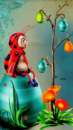 The perfect Easter EasterEggs LadyBugs Animated GIF for your conversation. Discover and Share the best GIFs on Tenor. Animiertes Gif, Animated Gif, Gif Pictures, Cute Pictures, Gif Bonito, Beau Gif, Gifs, Glitter Graphics, Beautiful Gif