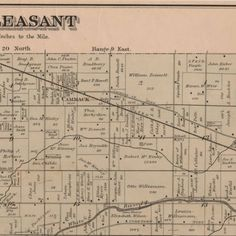 Delaware County, Indiana, Atlas, 1887 :: Muncie and Delaware County  Historic Maps and Atlases, Mt.