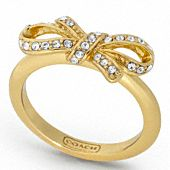 Coach pave bow ring- love this! I normally don't like gold but it works with this one.