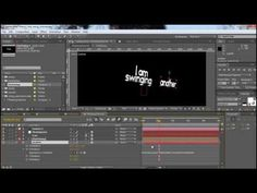After Effects Tutorial: how to create a 3D swinging / swing intro text animatin in after effects