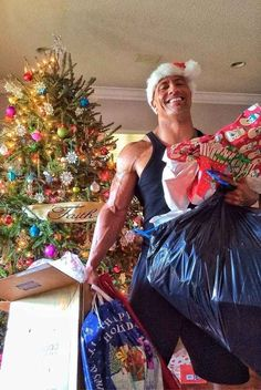 And here he is actually carrying every present that ever existed and it was no big deal because HE HAS SUPER STRENGTH…