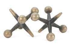 Antique Cast Iron Jacks Sculptures, Pair on OneKingsLane.com (I just love um'.  Too expensive for my little budget tho.)
