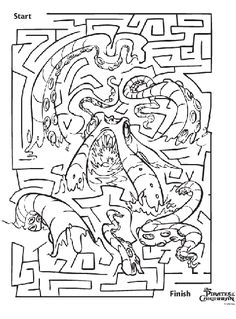 disney pirates of the caribbean maze coloring page