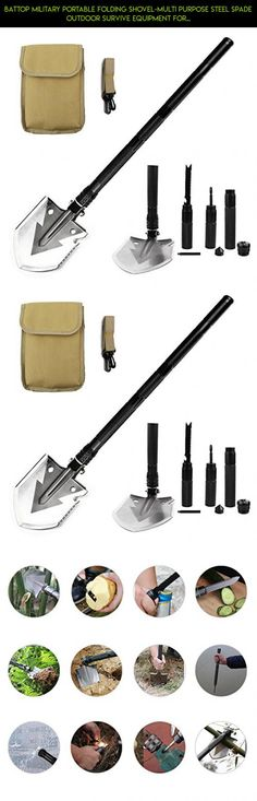BATTOP Military Portable Folding Shovel-Multi Purpose Steel Spade Outdoor Survive Equipment for Camping,Hunting,Fishing,Gardening,Army Entrenching,Car Emergency (Black) #tech #gardening #parts #drone #technology #shopping #camera #plans #kit #products #racing #gadgets #fpv #equipment
