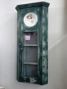 $145 - Curio cabinet created from antique clock case - ***** In Booth D16 at Main Street Antique Mall 7260 E Main St (east of Power RD on MAIN STREET) Mesa Az 85207 **** Open 7 days a week 10:00AM-5:30PM **** Call for more information 480 924 1122 **** We Accept cash, debit, VISA, Mastercard, Discover or American Express